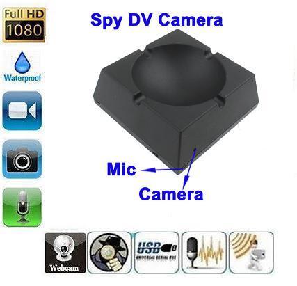 SPY HIDDEN ASHTRAY CAMERA 8 HOURS RECORDING