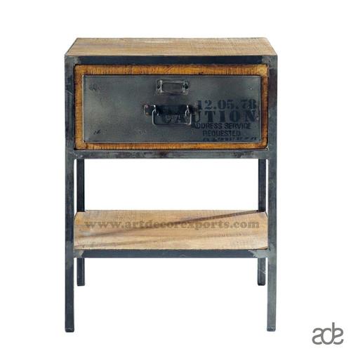 Industrial Wood Bedside