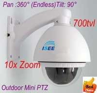 CCTV OUTDOOR 700TVL SONY 10X OPTICAL ZOOM MINI PTZ SPEED DOME CAMERA WITH CONTROLER