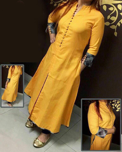 fancy desainer cotton selfi kurti