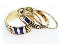 Brass Resin Pipe Bangle's Set