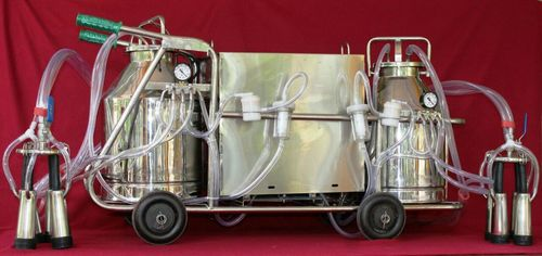 Double Bucket Electric Operated Milking Machine