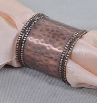 Copper Hammered Napkin Ring