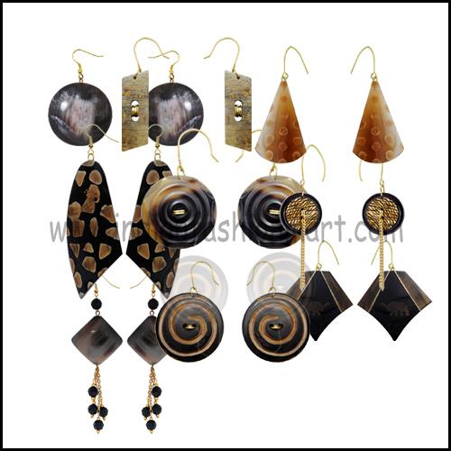 Bone & Horn Earrings