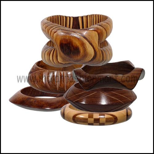 Wooden Carved Bangles