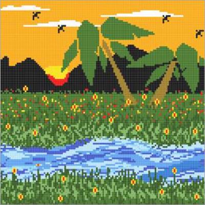 Nature CAD Design Tiles