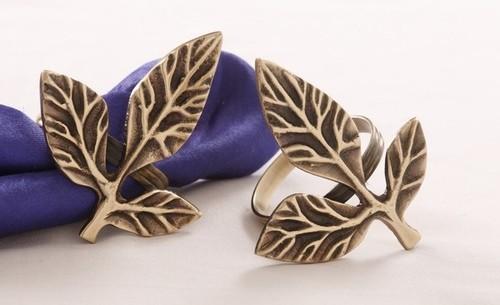 Leaves Design Napkin Ring