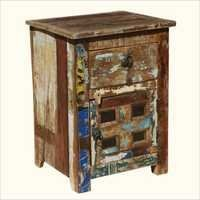Old Wood 18th Century Bedside