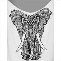 Decorative Elephant Tapestry