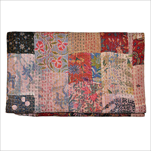 Cotton Patchwork Kantha Quilts