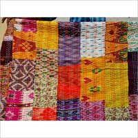 Silk Patchwork Kantha Quilts