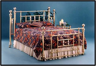 DOUBLE FRAME BRASS ANTIQUE BED