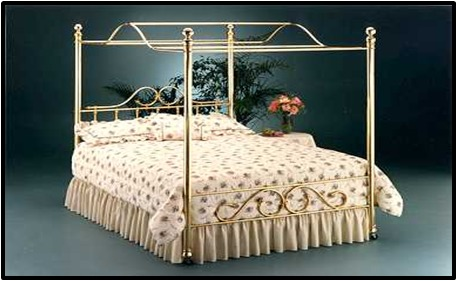 METAL DESIGNER SILVER BED