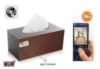 SPY 3G HIDDEN CAR TISSUE PAPER BOX CAMERA