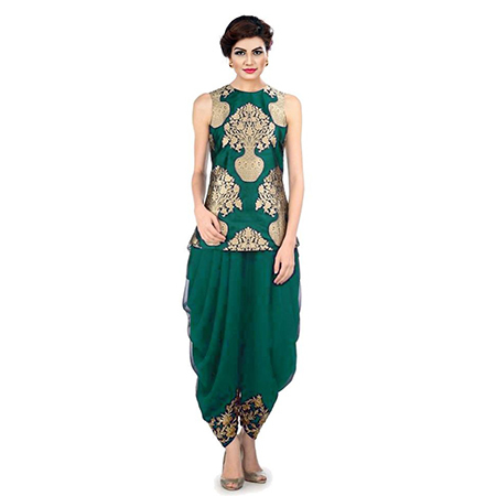 Ladies Dhoti With Short Kurti