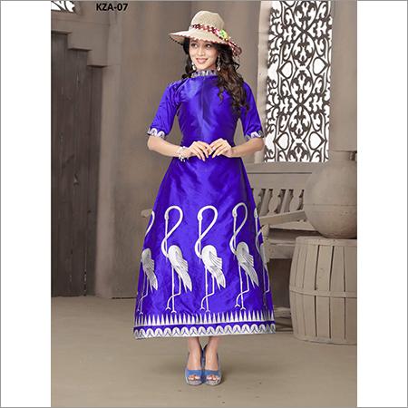 Ladies Silk One Piece Dress