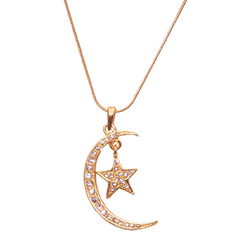Long Moon Star Pendant