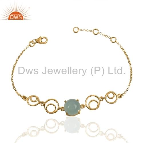 Designer 925 Silver Gemstone Bracelet