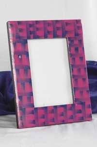 Photo Frame Pink Blue Enameled