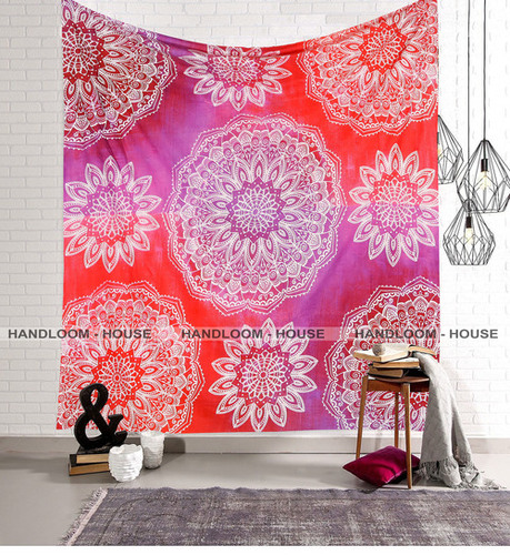 Cotton Wall Tapestry & Bed Sheet