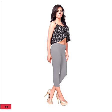 Ladies Plain Gray Capri