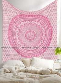 Wall Tapestry Mandala Gold Bed Sheet