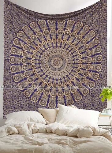 Mandala Gold Wall Tapestry