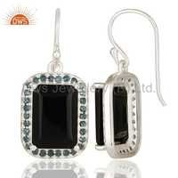 Natural Gemstone 925 Silver Drop Earrings