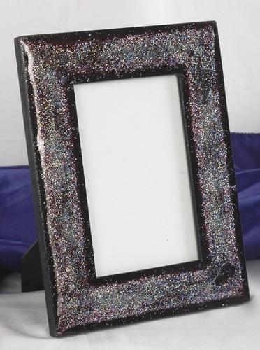 Black Marble Shyning Photo Frame