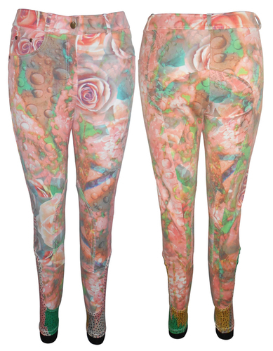 Printed Horse Riding Knee Breeches