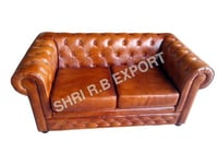 Two seater Leather sofa chair
