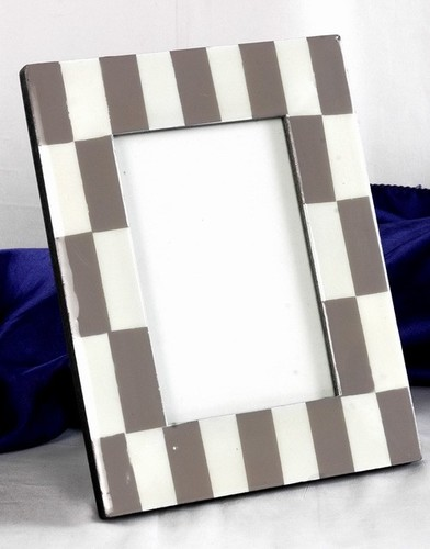 Slate & White Block Mop Picture Frame