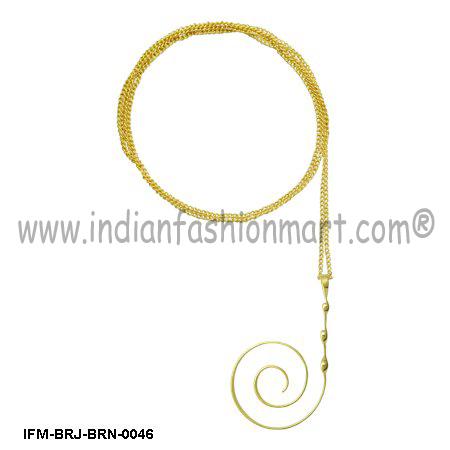Circumvolve Romance  - Brass Pendant