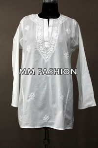 LADIES ETHNIC  WHITE KURTI