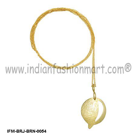 Nimble Frondescence  - Brass pendant
