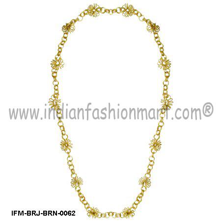 Eclat Blossom - Brass Necklace