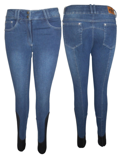 Denim Self Seat Breech