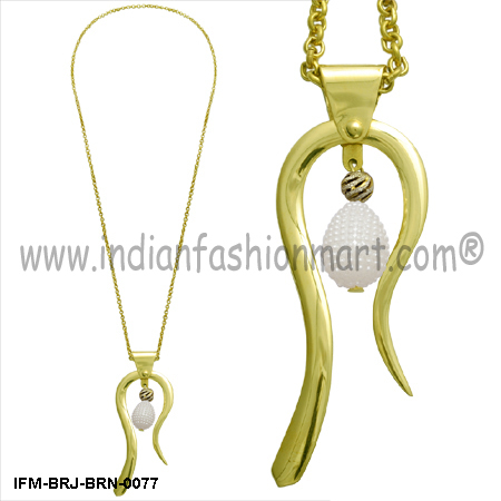 Ophidian Elegance -  Brass Pendant