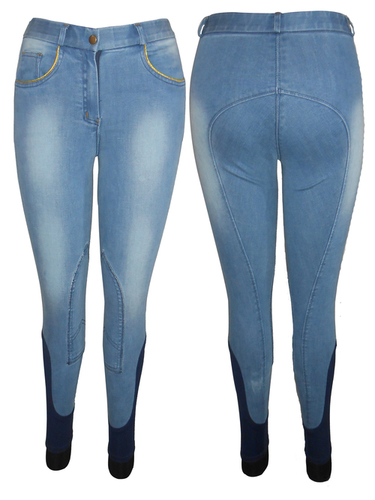 Denim self knee patch breech