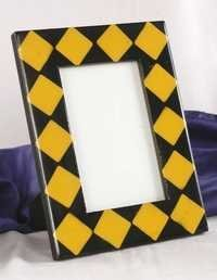 Yellow Black Mop Picture Frame