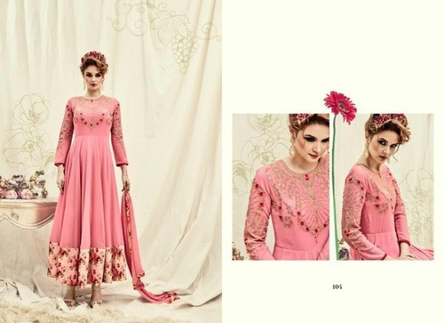 Shop Embroidery Work Designer Anarkali Suit Online