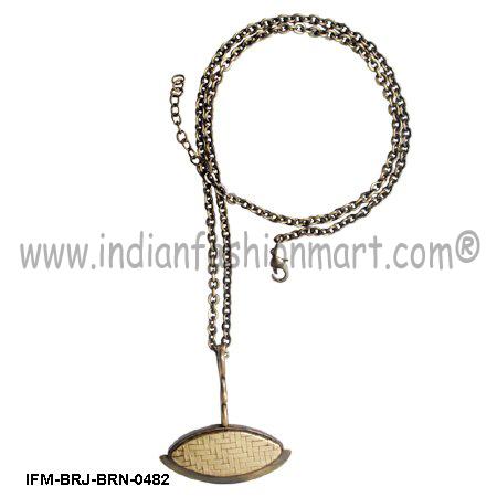 Flavescent  Sagacity - Brass Pendant