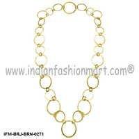 Swanky Inveigle - Brass Necklace