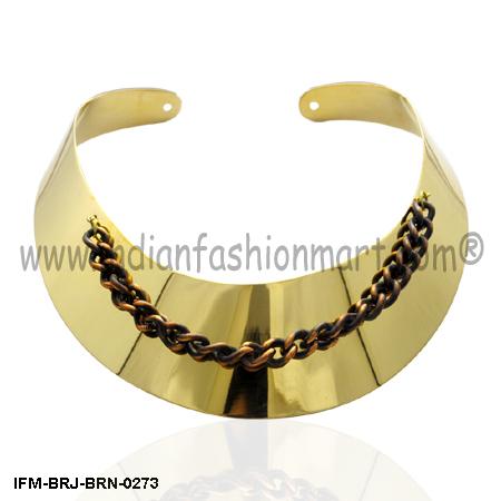 Golden Enchantress - Brass Collar Necklace