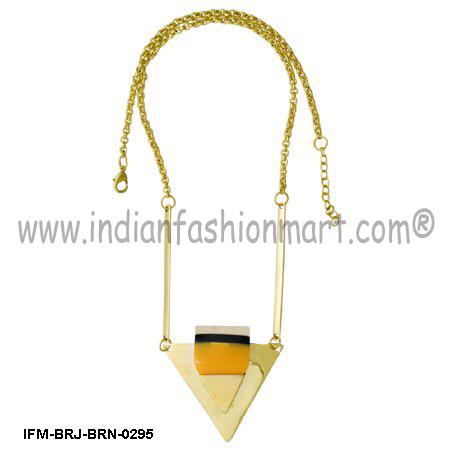 Possum Profile  - Brass Pendant Necklace