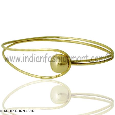Pretty Roundella - Brass Necklace