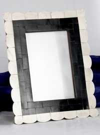 Black & White Bone Picture Frame