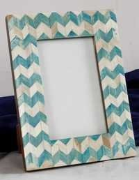 Blue Block Bone Picture Frame