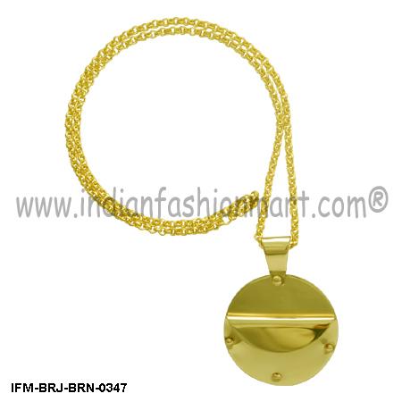 Paean Rejoice  - Brass Necklace