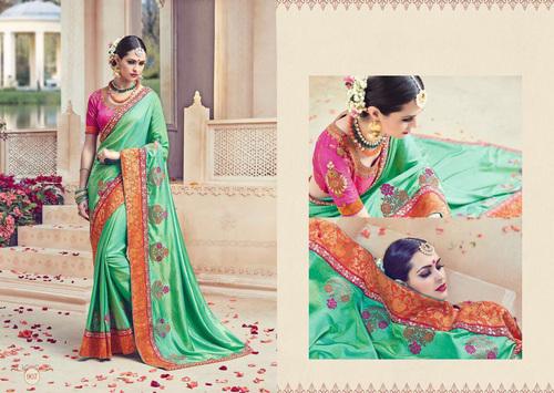 Heavy work saree